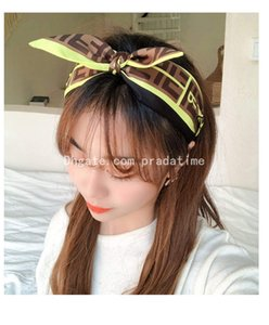 High-end Women New English Letter Cross Wide Border Slip Durable Hoop Bow Hair Accessories Yellow And Pink Color Hair Jewelry