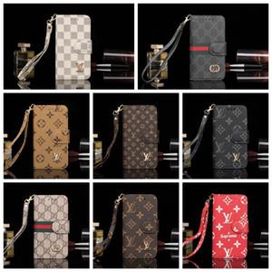 아이폰에 대한 브랜드 인쇄 가죽 디자이너 전화 케이스 (11) 프로 맥스 X XS 최대 XR 6 기가 7 8 플러스 카드 지갑 커버 쉘 A16