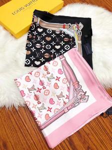 2019 Новый бренд 100% шелк Платки Платков для мужчин Лучшего качества женщины шарфа дизайн шелкового сердца цветочного шарф платок дама шарфы 180x68cm S717
