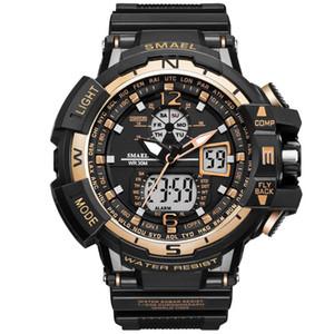 2020 SMAEL 럭셔리 남자 스포츠 방수 충격 Resitant 럭셔리 남성 손목 시계 S 충격 1376 디지털 시계 LED 남성 시계 골드