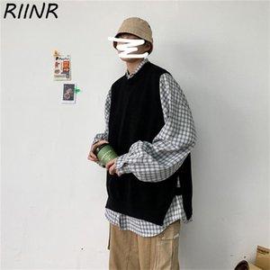 Riinr 2020 neue Männer koreanischer Trend Weste Hip-Hop-Weste Pullunder M-2XL