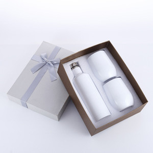 3pcs lot Gift Wine tumbler Set Egg tumbler Set Stainless Steel Double Wall Insulated with one bottle two wine tumbler EEA327