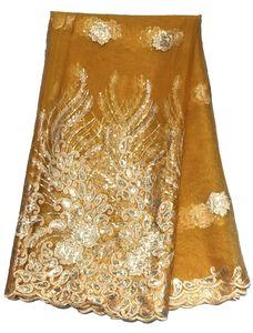 Royal Blue South African Goldsequin Spitze 2020 Französisch-Spitze-Gewebe für Hochzeitsfest-Stickerei-afrikanisches Spitze-Gewebe