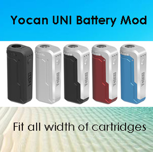 Otantik Yocan UNI Mod Yocan Handy Pil E Sigara Kutusu Mod 500 mAh 650 mAh Ön Isıtma Gerilimi Ayarlanabilir Vape Mod 10 Renkler 100% Orijinal