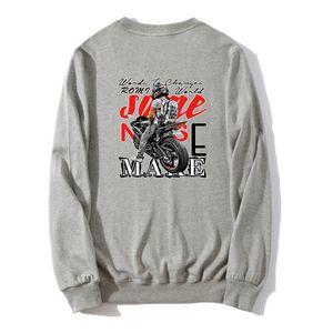Moto Felpe Primavera Autunno maschio Casual Felpe Felpe cotone pullover unisex sottile hip hop sudore homme