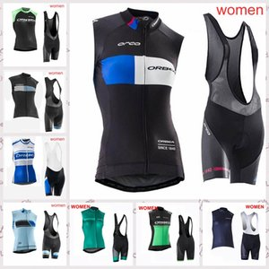 2020 Summer ORBEA Breathable Lady Cycling Sleeveless Jersey vest bib shorts Set bicycle Clothing MTB Quick-Dry sportwear P62233