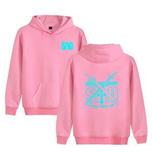 Cute Pink Sword Art Online Hoodie algodón suave alta calidad hombres mujeres sudadera diseño fresco guapo Hoodies mujer otoño Tops