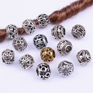 20Pcs Silver Tone Spacer Loose Beads Hollow filigree Tibetan beads for jewelry making wholesale beads for jewelry making