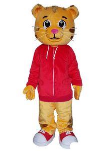2019Wholesale Daniel Tiger Maskottchen Kostüm für Erwachsene Animal große rote Halloween-Karnevalsparty