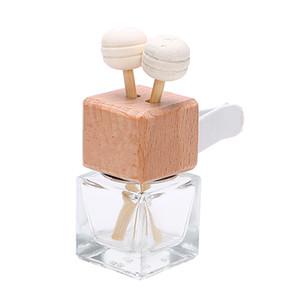Bottiglia di profumo dell'automobile di 8ml con il deodorante dell'aria del profumo del cubo dell'ornamento della clip per la fragranza del diffusore di diffusore degli oli essenziali Trasporto libero