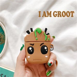 Marvel Groot earphone cases 3 generation protective sleeve little tree cute iphone earphone shell silicone soft applicable