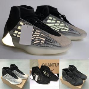 donne esterno 2020 nuovi riflettente Quantum tripla Kanye nero occidentale pattini di pallacanestro di alta qualità mens formatori moda delle scarpe da tennis US 5-12,5