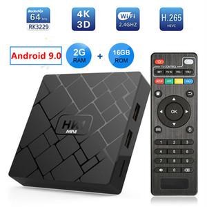 HK1 mini Android 9, 0 TV BOX 2 GB 16 RK3229 Quad Core Set Top Box H.265 4 K HD MI reproductor multimedia p mxq pro h96 tx3 x96 mini