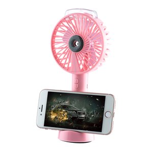 Portable Water Spray Mist Fan Electric USB Rechargeable Handheld Mini Fan Cooling Air Conditioner Humidifier for Outdoor