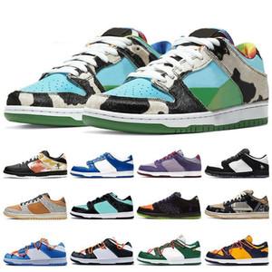 2020 Ben & Jerry's x Nike SB Dunk Low «Chunky Dunky» Hommes Femmes Baskets Designer Travis Scotts Panda Pigeo Raygun Tie Dye chaussures de course pour hommes 36-45