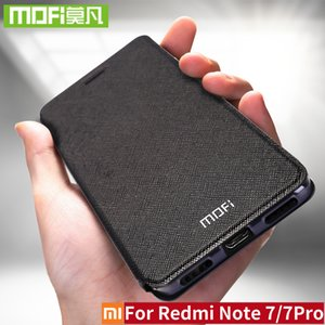 For Xiaomi Redmi Note 7 Case Silicon Cover Flip Leather Original Mofi Xiomi Redmi Note 7 Pro Case 32gb 64gb Note7 360 shockproof