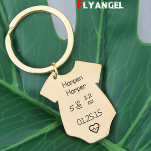 Customized Newborn Information Keychain Gift For New Dad New Mom Keyrings Baby birth statistics Souvenir Delicate Key Holders