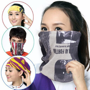 Solid Color Bandana Tube Scarf Head Face Mask Neck Gaiter Headwear Snood Beanie White Black Pink Green