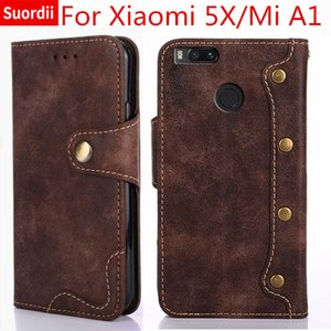 Luxus case für xiaomi mi 5x mi a1 buch stil flip leder brieftasche case für xiaomi a1 / 5x stehen kartenhalter abdeckungen