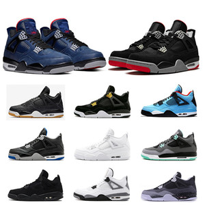 2019 4 s erkekler için spor ayakkabı Royalty Travis İskoç beyaz Fear Pack Atletik 4 basketbol ayakkabı erkek sneakers