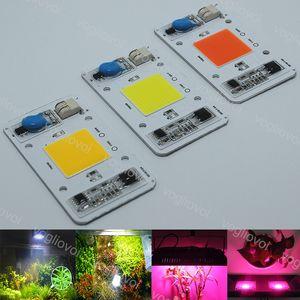 Işık Boncuk Yüksek Güç Chip 50W Tam Spektrum Sıcak Beyaz Işık Akıllı IC Sürücü AC110 / 220V Aydınlatma Aksesuar İçin Projektör HighBay EUB büyütün