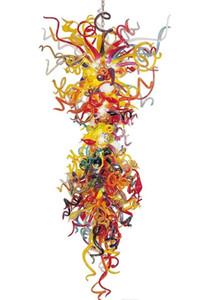 Lâmpada multi-cor grande candelabro luz dale itália estilo lâmpadas lâmpadas colorida arte colorida arte iluminação para decoração de casa