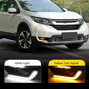 2ST für Honda CRV CRV 2017 2018 vergilben Signal Stilstaffel Wasserdichtes ABS Auto DRL 12V LED Tagfahrlicht