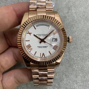 acero inoxidable 316L Quailty U1 fábrica DayDate 18k de oro rosa de 40 mm Producto Cristal de zafiro Movimiento Auotmatic U1 hombres modernos Reloj de pulsera