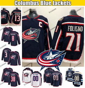 2020 Columbus Blue Jackets Hockey Jerseys Nick Foligno Cam Atkinson Seth Jones Boone Jenner Gustav Nyquist Zach Werenski Dubois Korpisalo