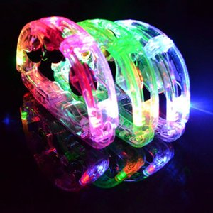 LED Flashing Tambourine Rattle Hand Bell Kids Light Up Luminous Toy KTV Bar Decoration Glow Led Lights Party Supplies