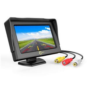 Автомобиль заднего вида монитор, 4,3-дюймовый TFT LCD 180 градусов Регулируемый экран монитора для резервного копирования заднего вида автомобиля Парковка камеры