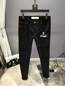 Nouvelle arrivée Designer Hiver Hommes Jeans de style High Street Letter Jeans Qualité mode classique Designer Mens Pantalon Top Taille Qualité 29-40