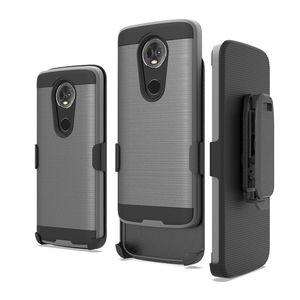 Rüstung gebürstet telefonkästen für lg k30 stylo 4 aristo 2 tpu + pc 3 in 1 mit clip telefonkästen oppbag 300 stück mindestens