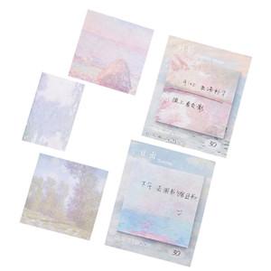 Nuovo stile autoadesivo olio portatile Pittura Memo Paper Sticky Notes Message Pad Bookmark Marcatore Ufficio Scolastico cancelleria