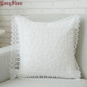 LongShow 45x45cm Square Home Decorative Light Coffee White Grey Tupe Color Pure Plased Pillad Case Y200417
