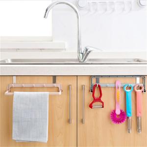Automatic Folding Sundries Organizer Shelf With Hook Rack Cabinet Door Hanger For Kitchen Cupboard Towel Hanger Storage