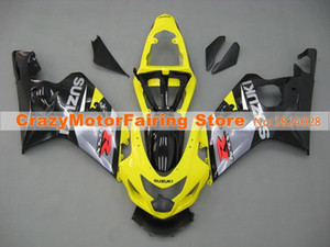 Yüksek kaliteli Yeni ABS motosiklet Fairing Setleri Fit For Suzuki GSXR600 750 600 750 K4 2004 2005 04 05 Kalafatlama özel sarı siyah set Kaporta