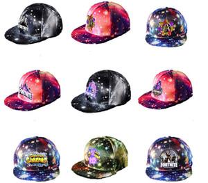 Unisex Beyzbol Şapkası Yıldız Snapbacks Şapka Karikatür Casquette Visor yazdırın Spor Şapka Hip Hop Cap Sunhat 36 Stiller Caps