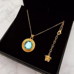 la venta del nuevo diseño del laberinto avatar belleza esmeralda colgante de moda salvaje collar de joyería de las mujeres del diseñador