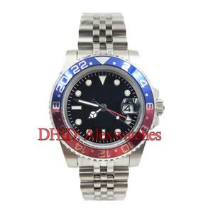 Usta Seramik Bezel Erkek Saatler Glide Kilit Toka Jubilee Bant Otomatik İzle 126710BLRO-0001 GMT Mekanik Paslanmaz Çelik Saatı