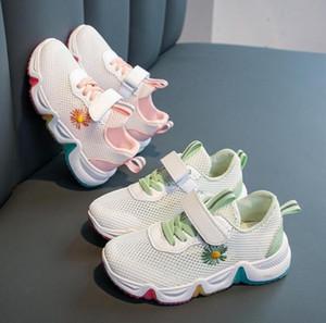 2020 Дети Повседневная обувь Mesh Легкие кроссовки Мальчики Девочки Повседневный Крюк Петля Школа тренеров Дети Марка дышащая обувь