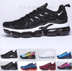 2019 TN PLUS Running Shoes For Men Women Black Speed Red White Anthracite Ultra White Black 2019 Best Sneakers 36-45 JK562