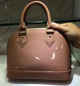 Klassische Shell-Tasche Damier Lackleder Grid Taschen Handtaschen Schulter-Frauen-Segeltuch-Geldbeutel Crossbody-Einkaufstote