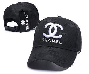 Alta Qualidade Canvas Cap Homens Mulheres Hat exterior Desporto Lazer Estilo Europeu Strapback Designer Brand Channel Baseball Caps Chapéus de Sun