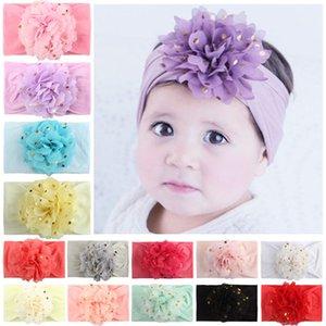 Acessórios bebê Meninas Headbands Hot Stamping Chiffon Flower Scarf headband Meninas infantil do bebê Crianças Banda bonito cabelo 07