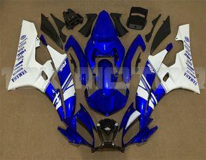Горячие продажи новый ABS мотоцикл обтекатели наборы подходят для YAMAHA YZF-R6 YZF600 2006 2007 R6 кузов комплект бесплатно пользовательские синий белый