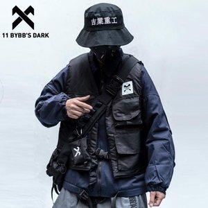 11 BYBB buio funzionale Giacca carico con i vest uomini 2020 Hip Hop Streetwear lettera stampata Techwear Windbreaker tattico Cappotti