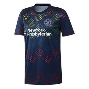 Maillot de football MLS Pride Pre-Match 2019 pour hommes - Top 19 d'avant-match de la Marine Pride du New York City FC 20 20 Maillot de football MLS New York City FC de la Princesse de la Marine