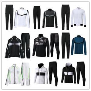 19 a 20 hombres de la chaqueta de los kits de movimiento 2019 2020 adultos calidad superior de la chaqueta conjunto completo de la cremallera de la chaqueta del chándal Run