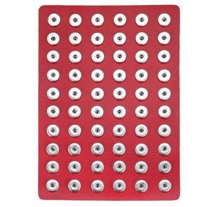 Nouveau Noosa Snap Bijoux En Cuir Noir 18mm Snap Button Supports D'affichage Fit pour 60pcs 18mm 20mm Snap Boutons Présentoir Doux